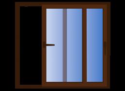 ventana corredera 2 hojas móviles
