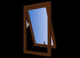 ventana doble contacto proyectante