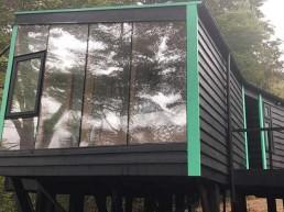 muro ventanas pvc grafito